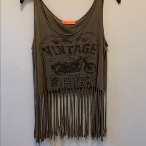 Fringed crop top by Spoiled .